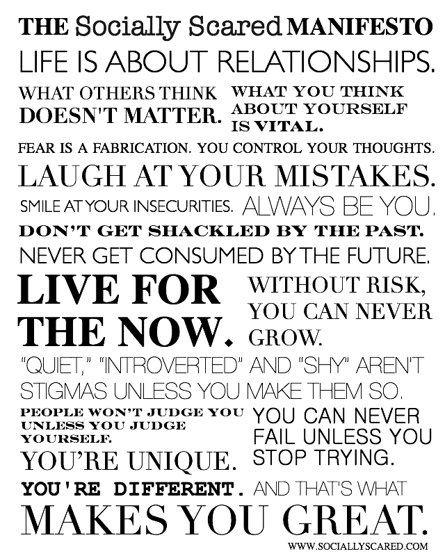 The Socially Scared Manifesto